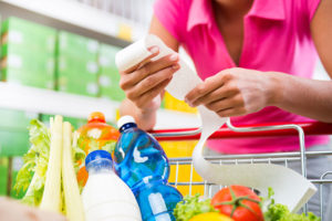 healthy diet grocery bill receipt