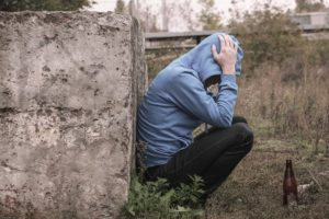 Alcohol Hypnotherapy depressed man