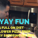 Feeling Full on Diet + Cauliflower Pizza Prep + Back Workout + Grocery Shopping - He and She Fitness