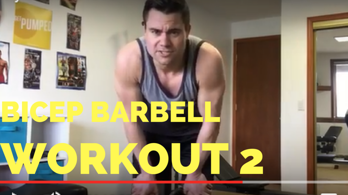 Updated Bodybuilding Barbell Bicep Curl Demonstration – He and She Fitness