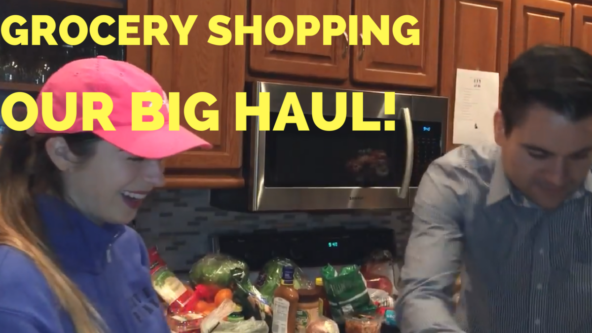 Carpooling with Leg Workout and Our Grocery Shopping Haul – He and She Fitness