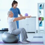 Physiotherapist treatment with a professional