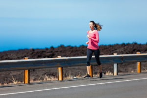 running slower when outdoors on road