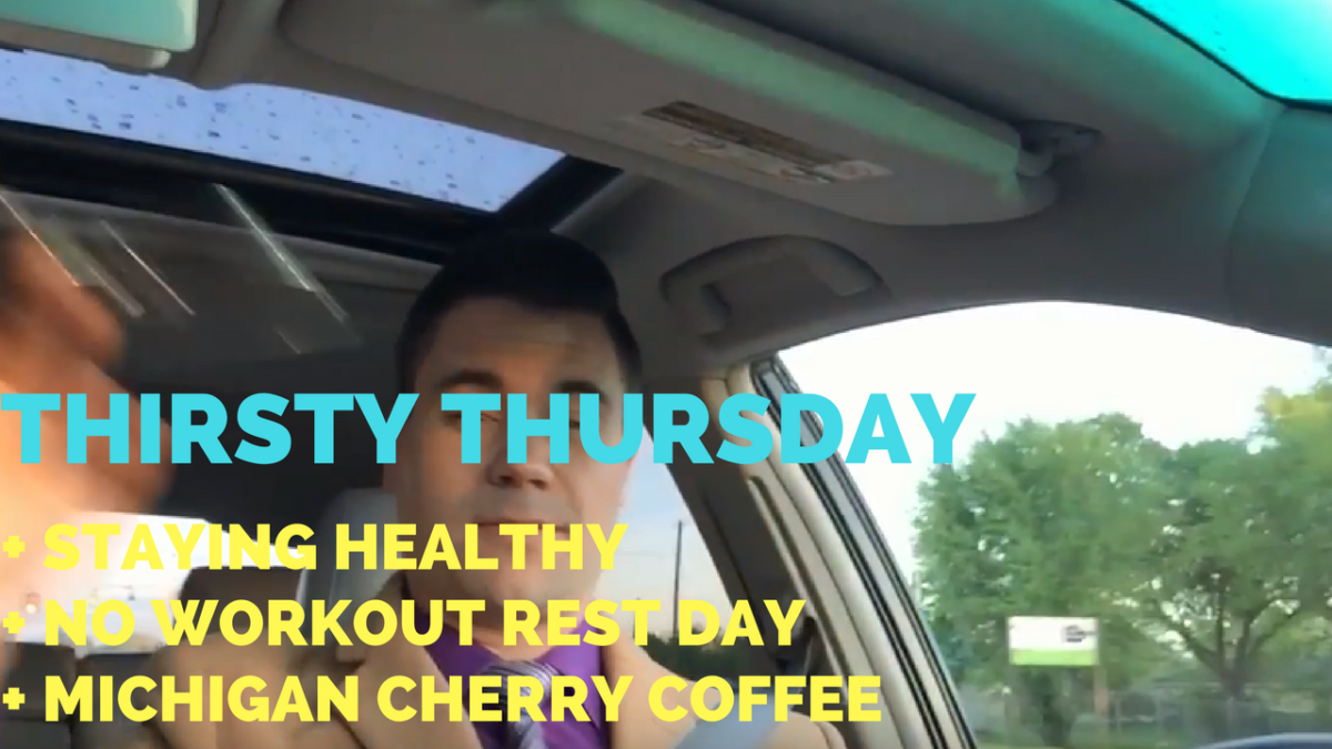 Staying Healthy + Rest Day, No Working Out + Michigan Cherry Coffee – He and She Fitness
