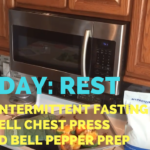 Rest Day + Fasting + Dumbbell Chest Press + Stuffed Bell Peppers Prep - He and She Fitness
