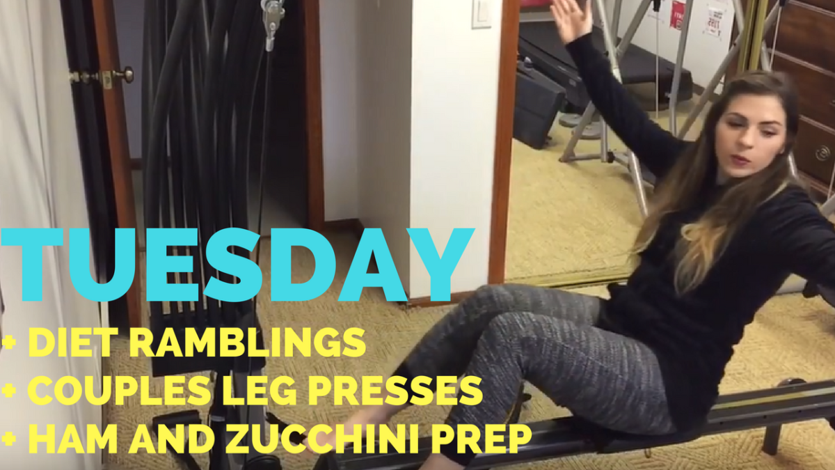 Diet Ramblings + Couples Leg Presses + Ham and Zucchini Prep