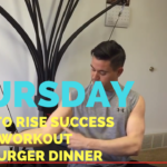 Up at 5 AM + Web Business + Tricep Extensions + Boca Burger Dinner - He and She Fitness