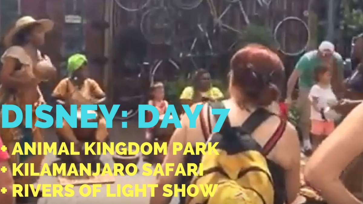 Disney Vacation Day #7: Animal Kingdom + Kilamanjaro Safari + Rivers of Light – He and She Fitness
