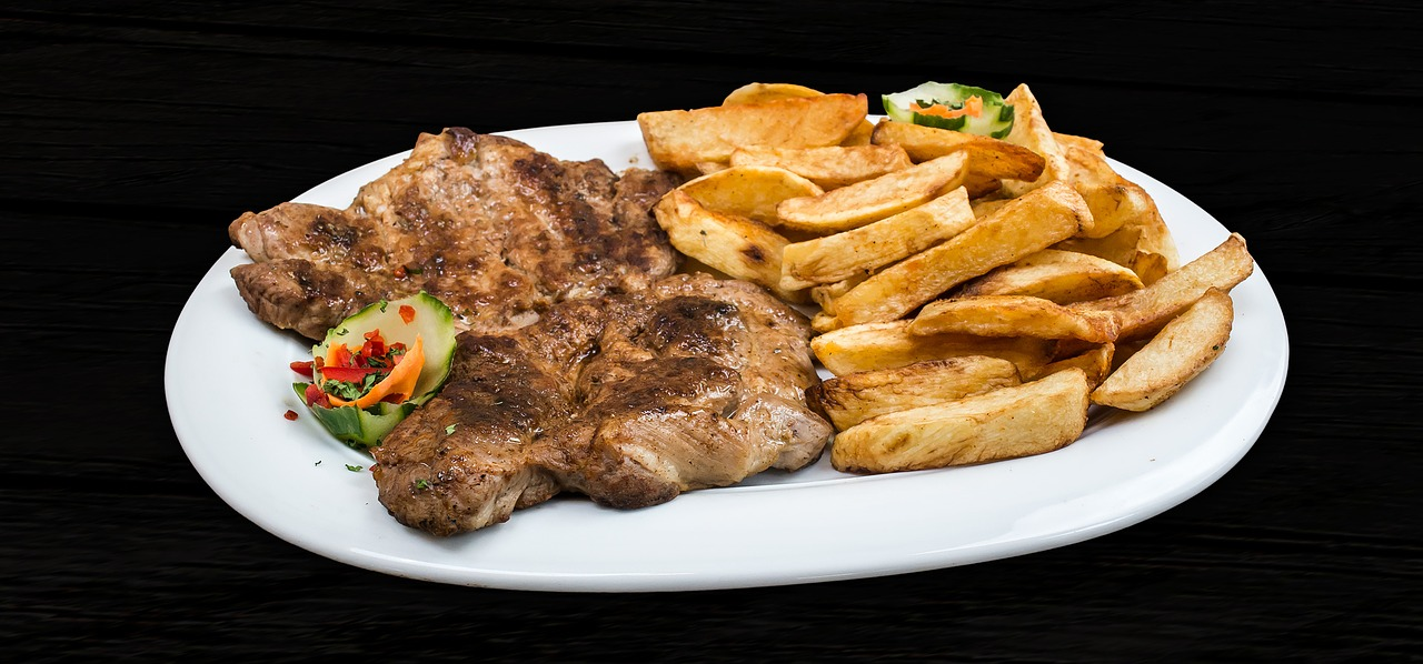 fries and steak