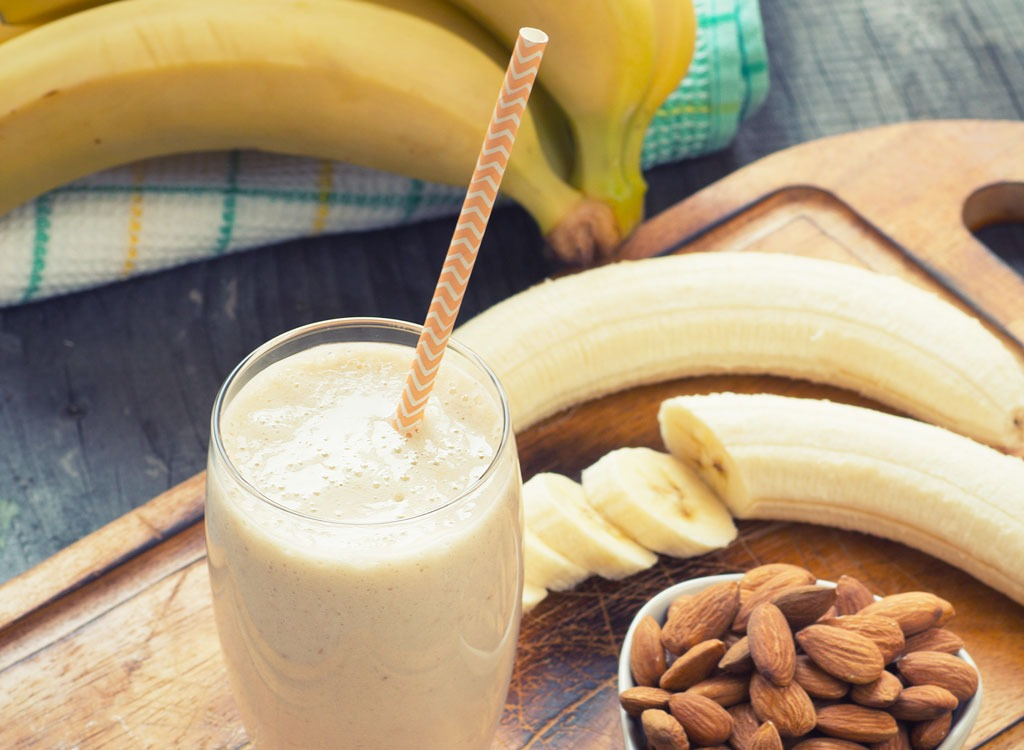 protein shake banana almond
