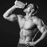 Protein Powder man drinking protein shake