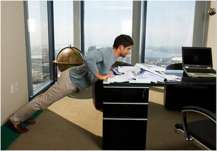 cabinet pushups in office