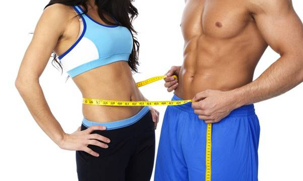 cardio people measuring waistline