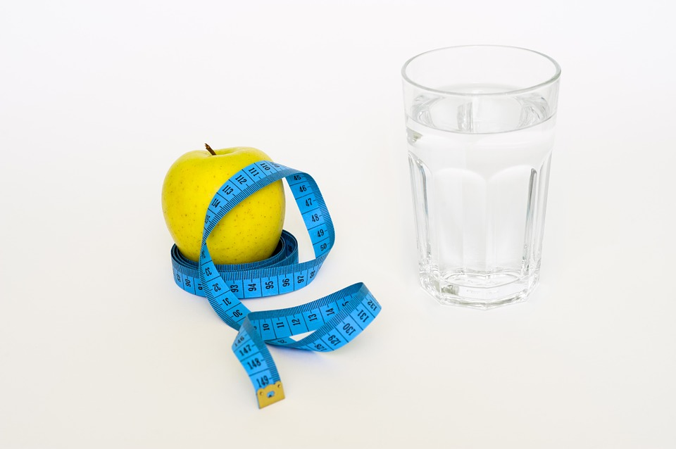 Water Healthy Tape Glas Health Diet Apple Blue