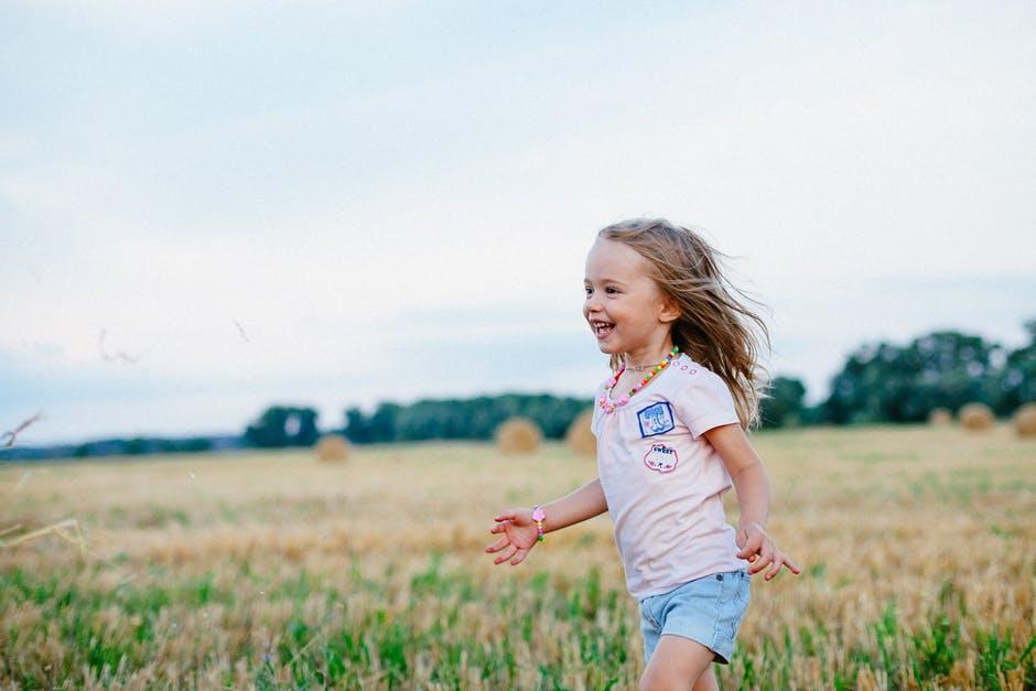 Stay Healthy girl running around
