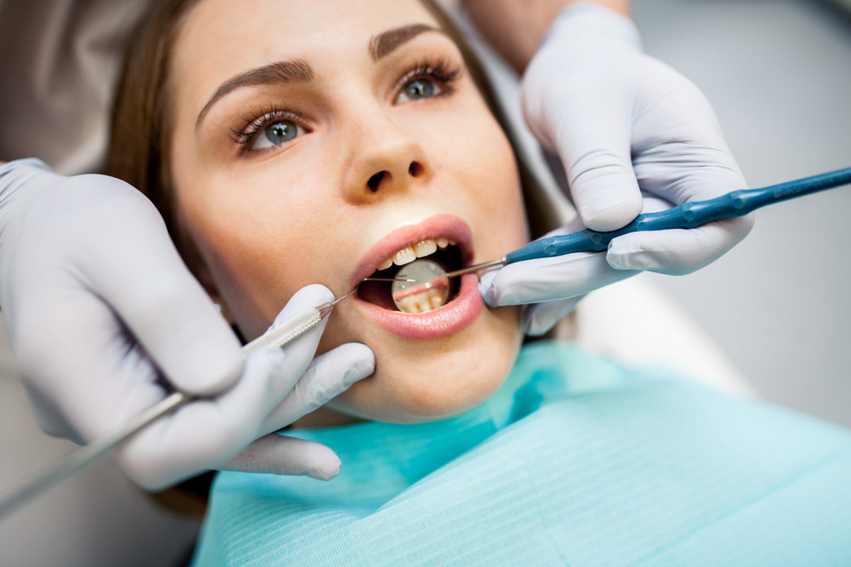 Dental Care woman with mouth open