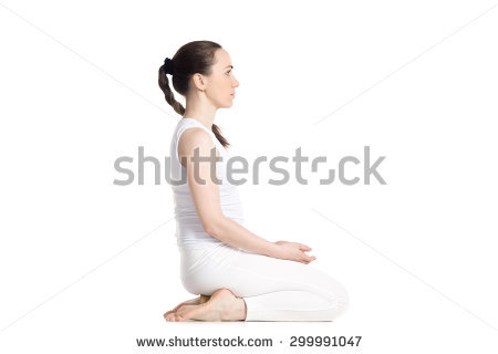 white outfit yoga