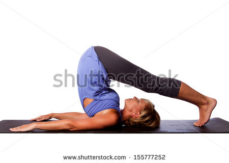 blue shirt yoga