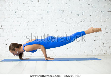 blue outfit yoga