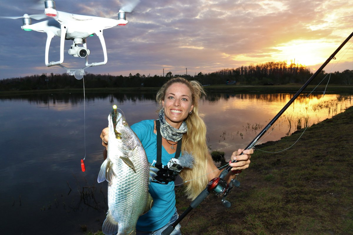 How to Catch Fish with Drones girl