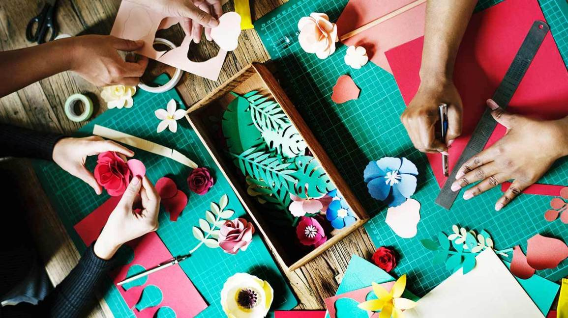 Crafting as a hobby for boosted happiness and anxiety relief